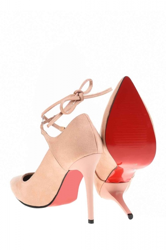 Suede Pointed Toe Shoes (Powder)