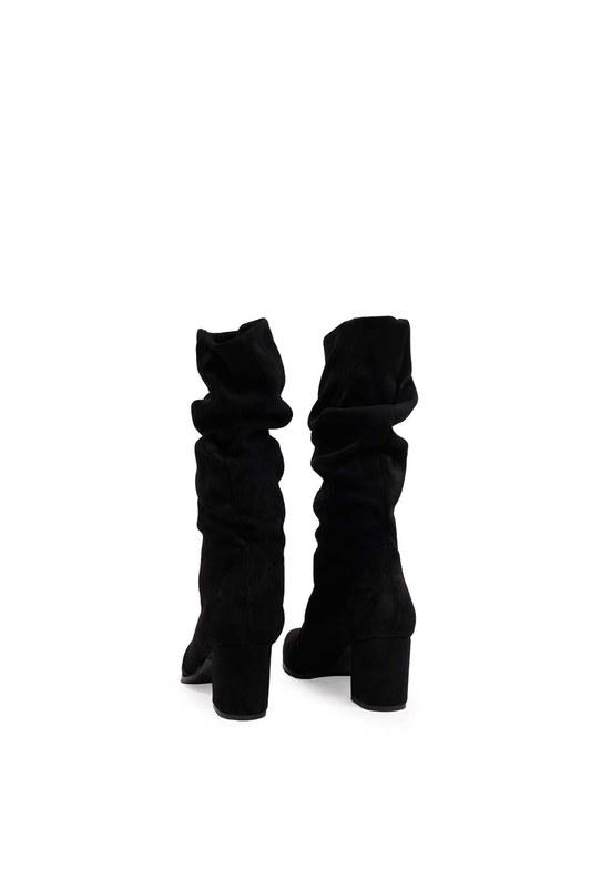 Süet Çizme (Siyah)