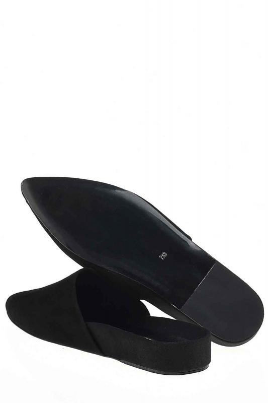 النعال من جلد الغزال ، بريميوم (أسود)