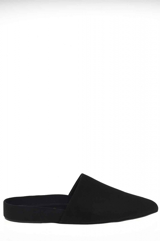 Suede Premium Leather Slippers (Black)