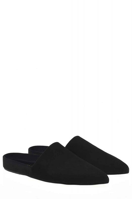 Süet Premium Terlik Deri Ayakkabı (Siyah)