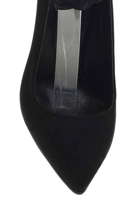 Süet Sivri Burun Ayakkabı (Siyah)