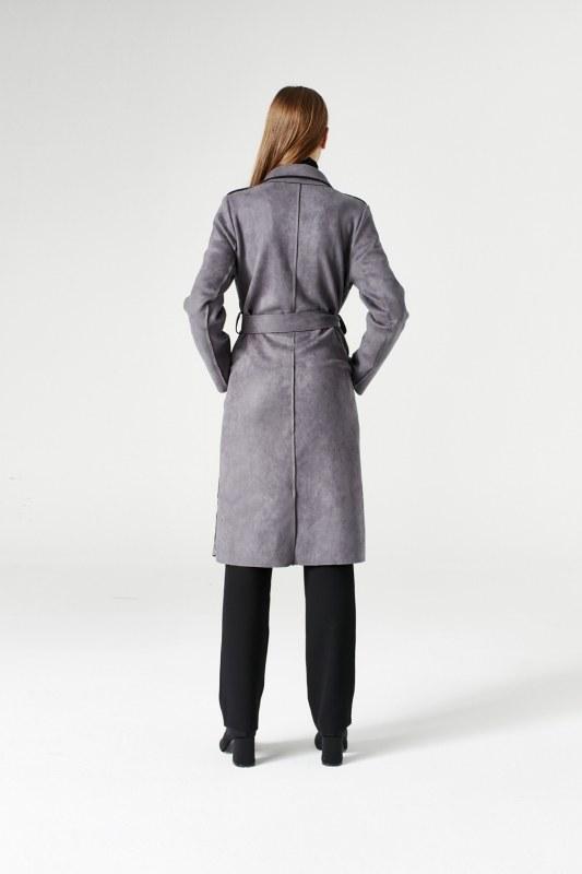 Suede Trenchcoat (Grey)