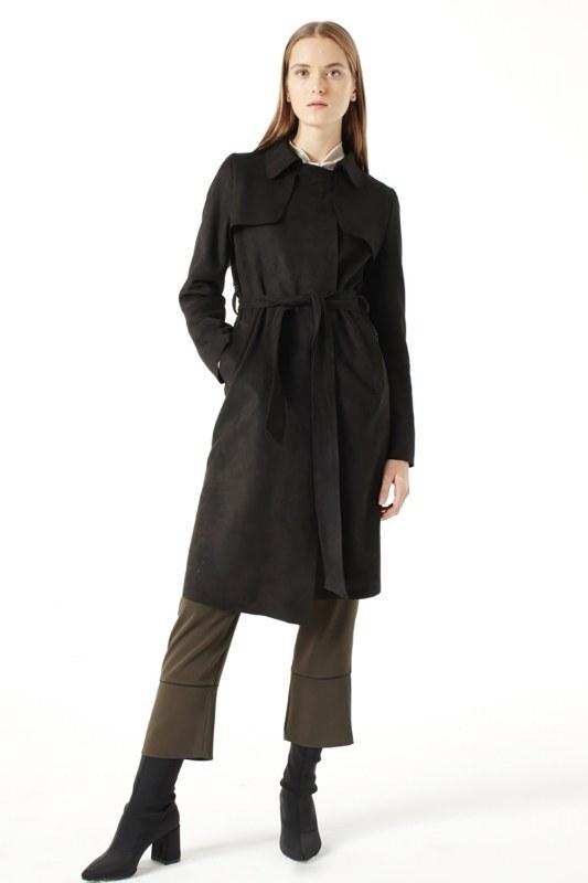 Suede Trenchcoat (Black)