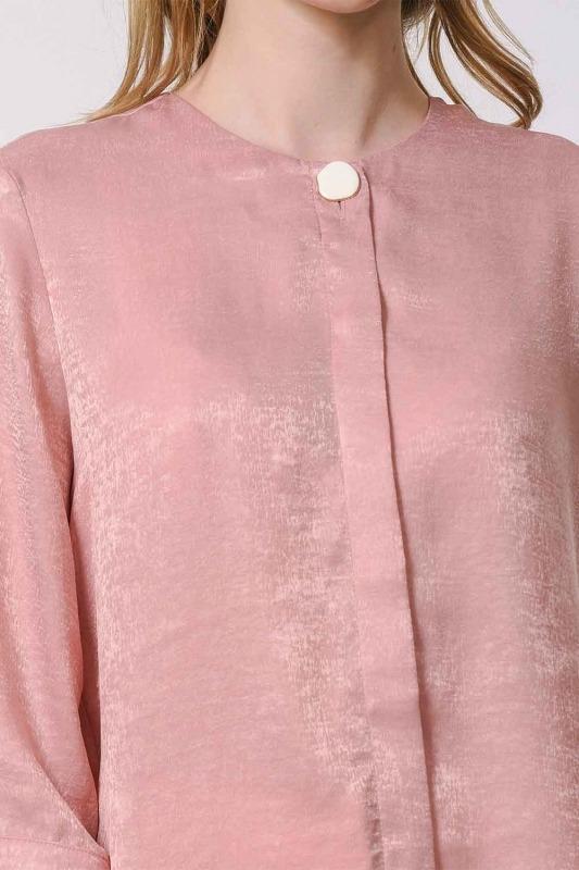 Süs Düğmeli Bluz (Pembe)