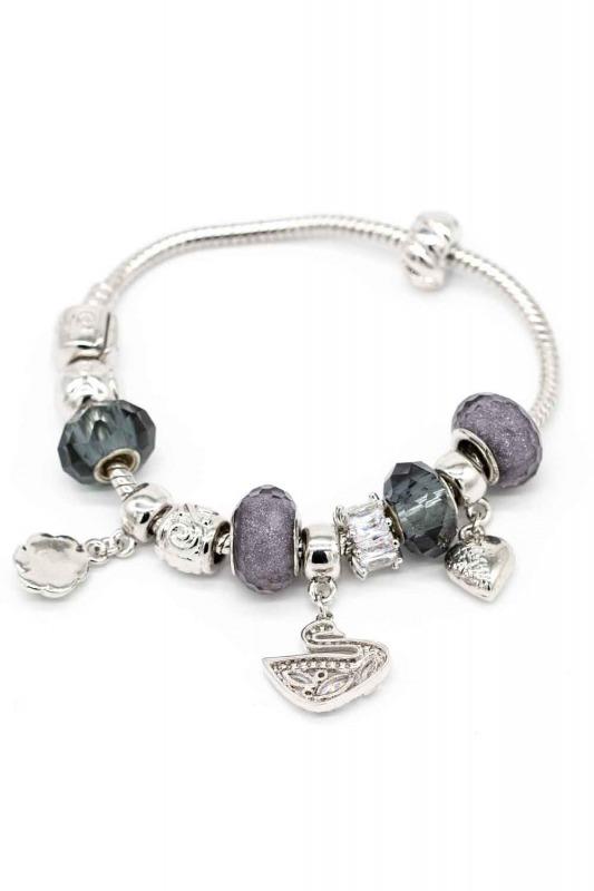 Swan Shaped Bracelet (Grey)