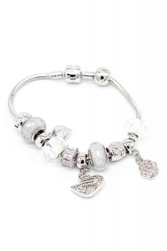 Swan Shaped Bracelet (White)
