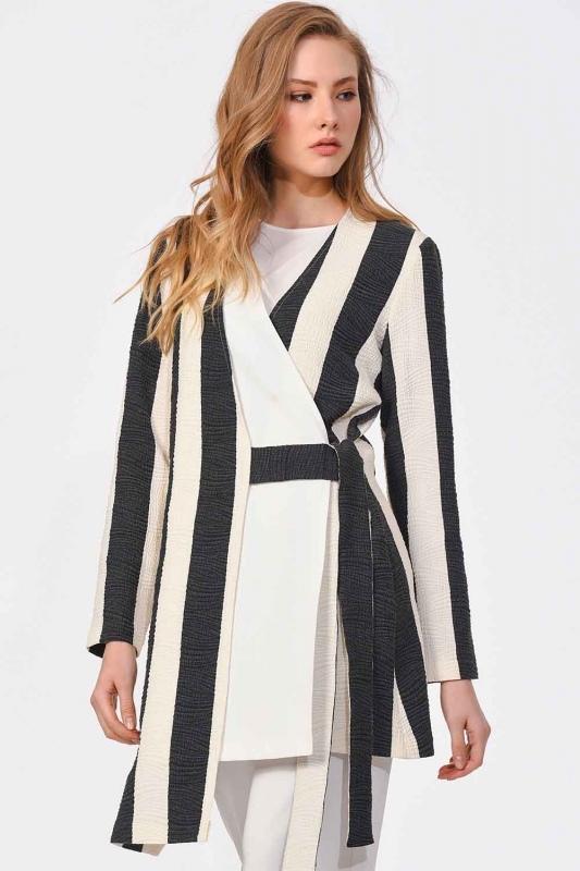 Design Striped Jacket (Black/White)