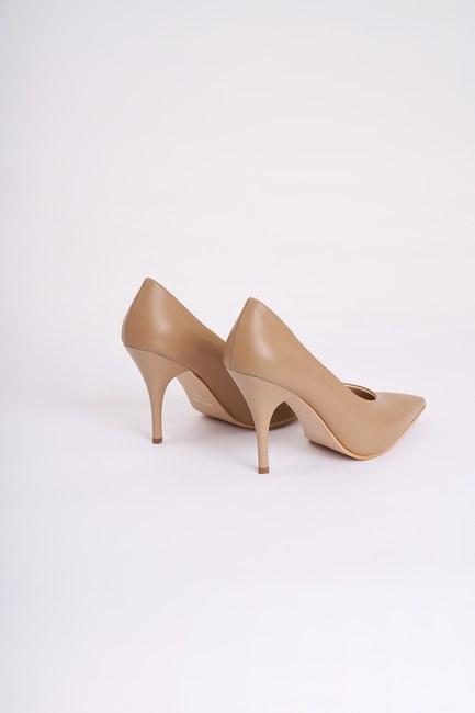 Topuklu Stiletto Ayakkabı (Vizon) - Thumbnail