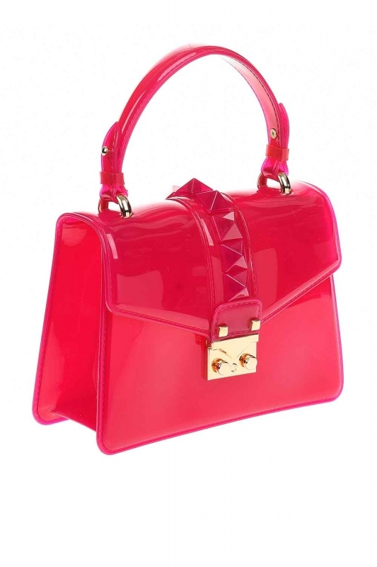 Transparent Hand Bag (Pink)