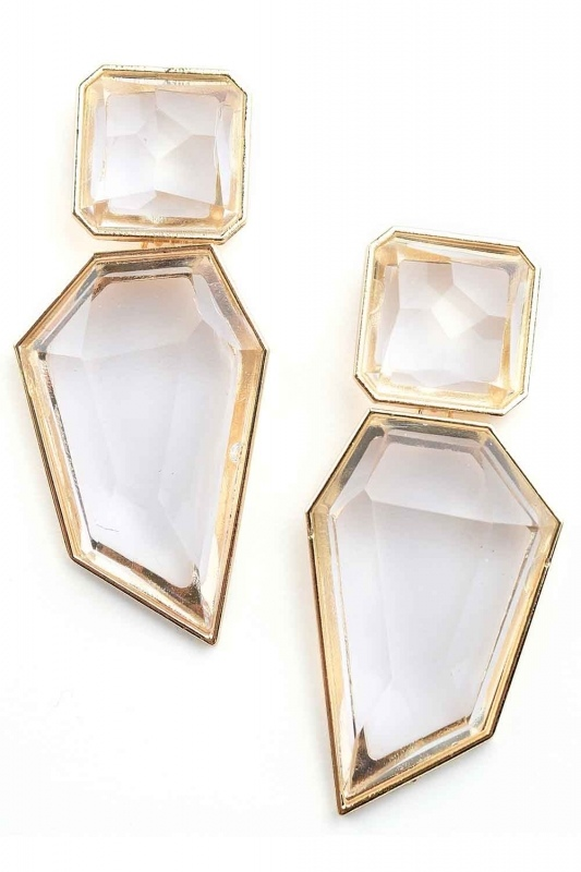 Transparent Stone Earrings (St)