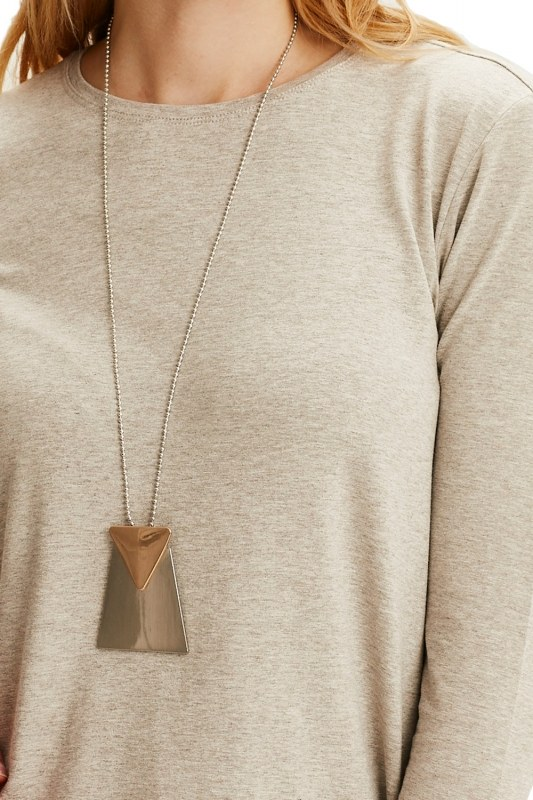 Triangle Detailed Necklace (Grey)