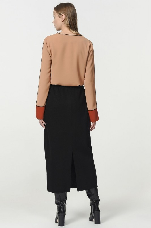 Tricot Pencil Skirt (Black)