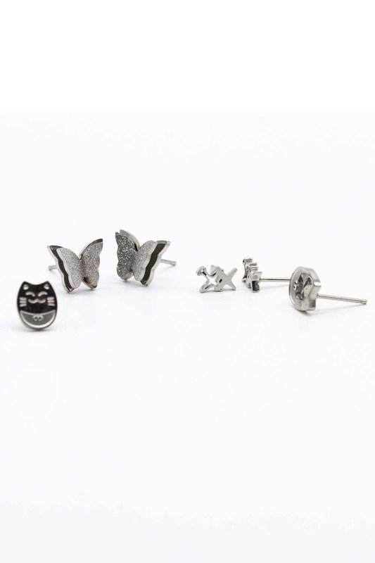 Triple Earrings Set