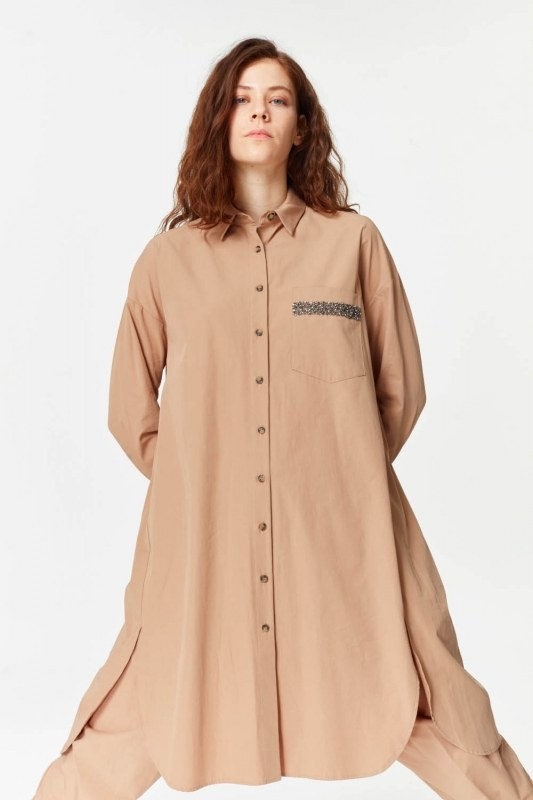 Tunic With Pocket Details (Camel)