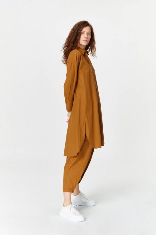Tunic With Pocket Details (Mustard)
