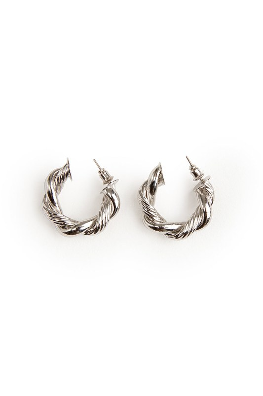 Twirl Ring Shaped Earrings (Grey)
