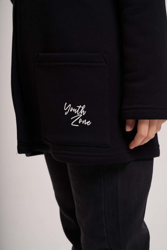 Üç İplik Ceket (Siyah)