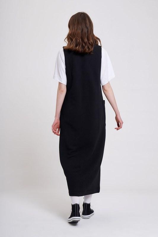 Üç İplik Jile Elbise (Siyah)