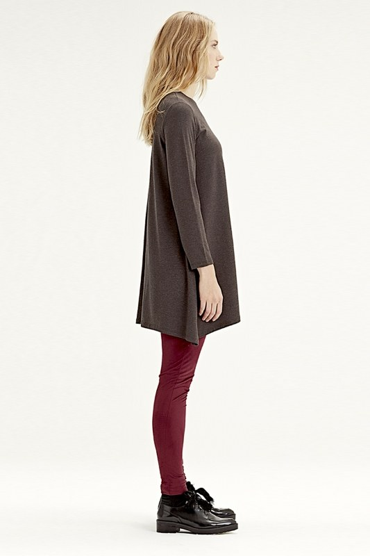 Long-Sleeved Basic Tunic (Brown)