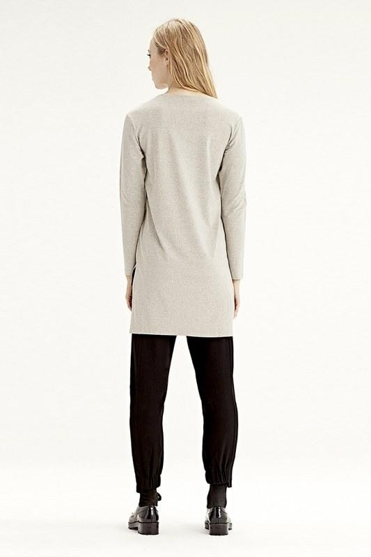 Uzun Kollu T-Shirt (Bej)