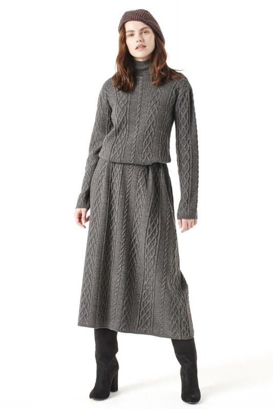 Long Tricot Dress (Grey)