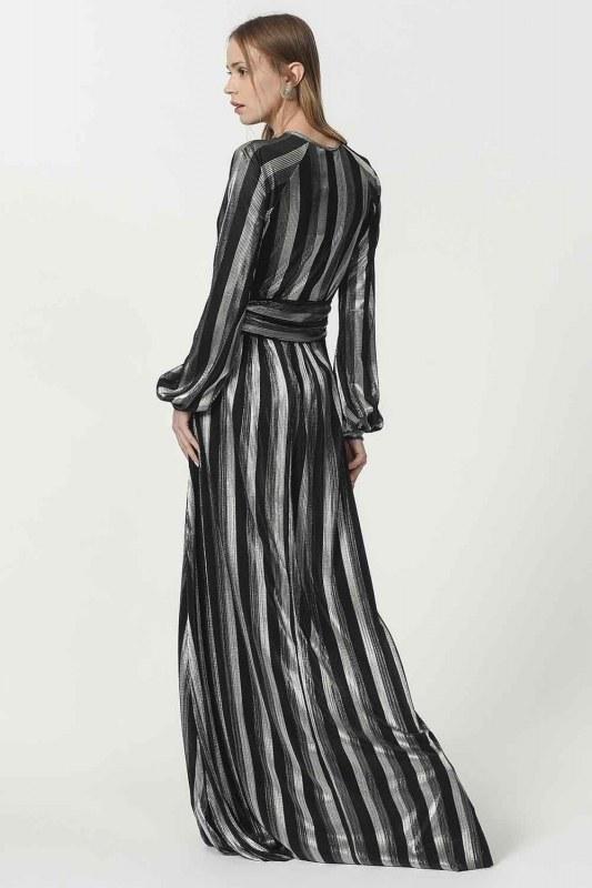 فستان مورق (أسود)