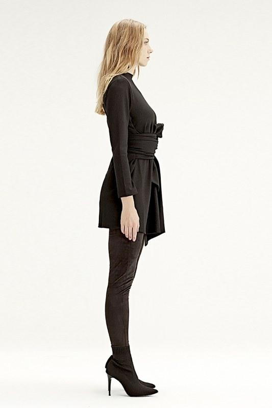 Waist Belted Tunic (Black)
