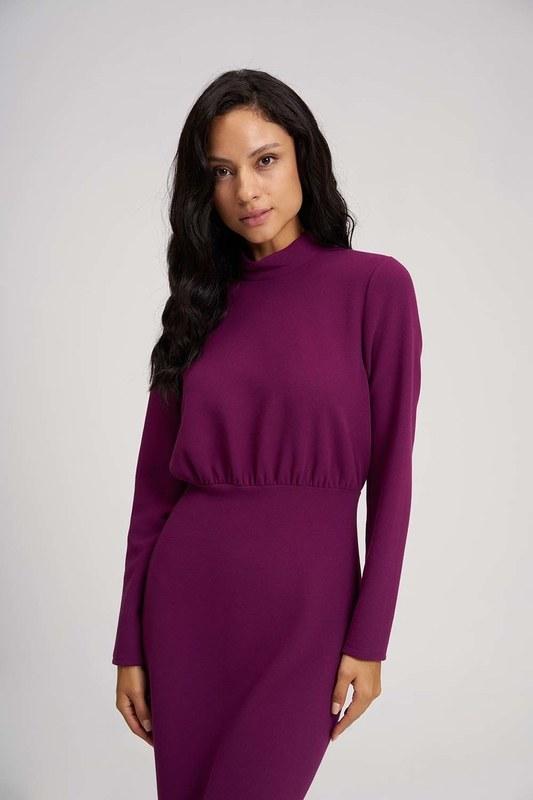 فستان ذات تصميم مُتعرج (مور)