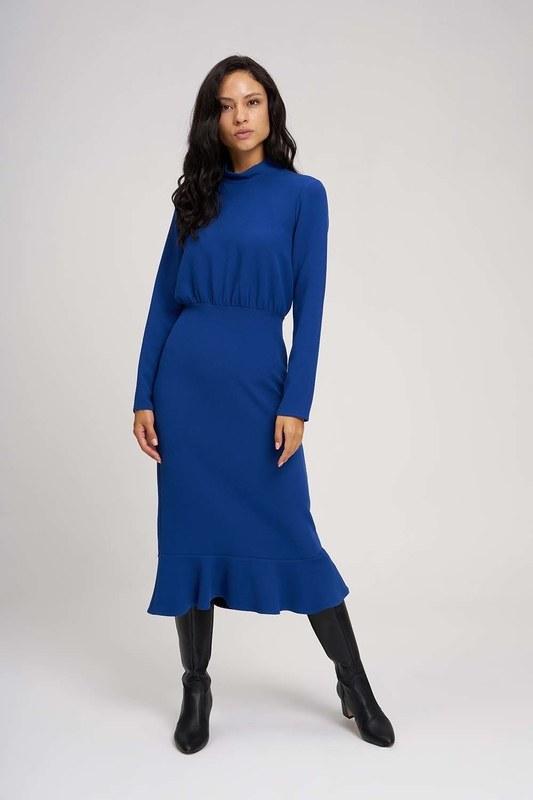 فستان ذات خصر مُتعرج (ساكس)