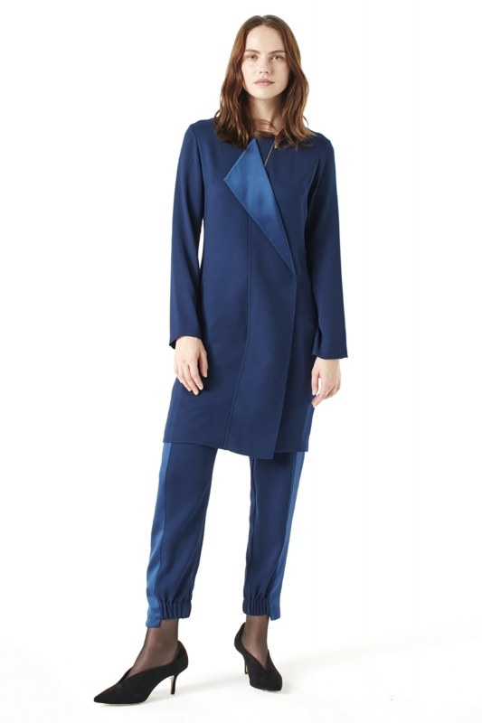 Zip Collar Detailed Tunic (Indigo)