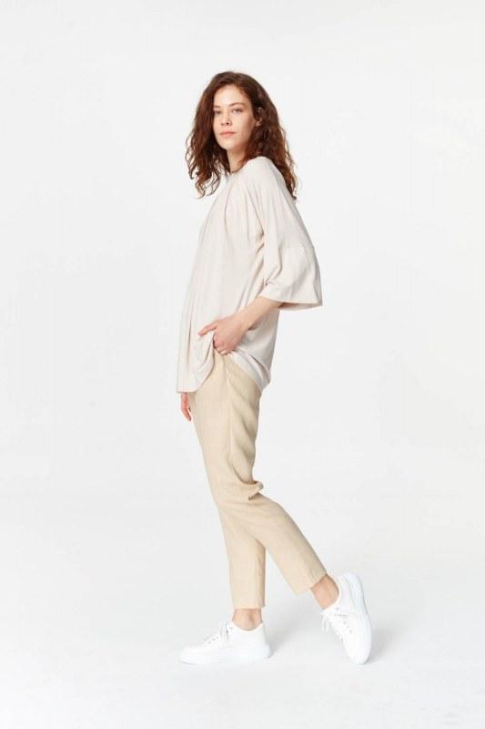 Knit Collar T-Shirt (Light Pink)