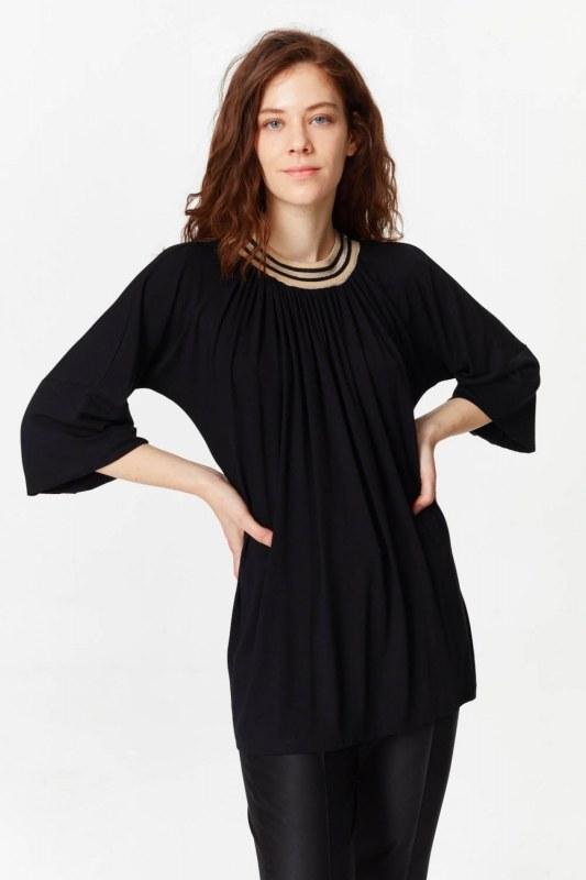 Knit Collar T-Shirt (Black)