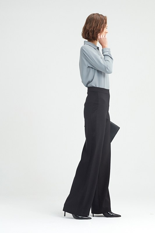 Side-Braided Trousers (Black)