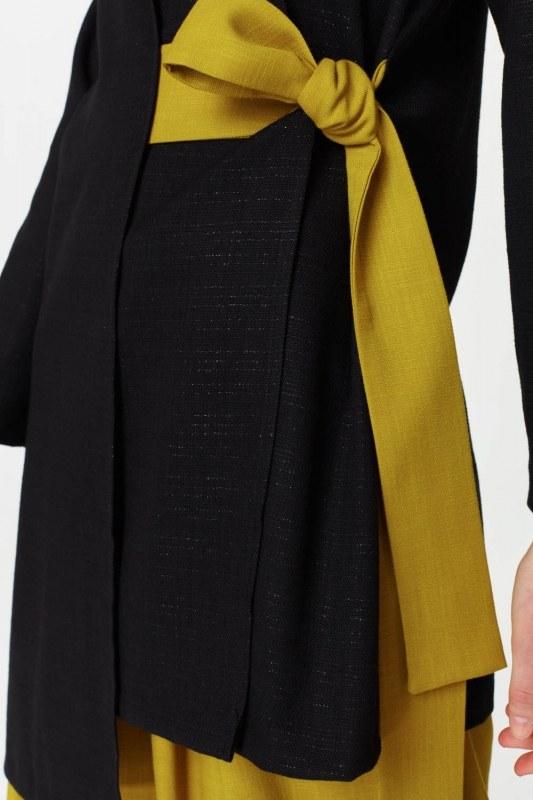 Yandan Bağlamalı Kimono (Siyah)