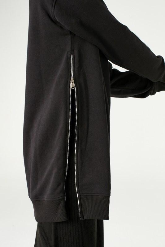 Yandan Fermuarlı Sweatshirt (Siyah)