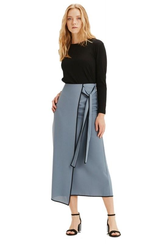 Side-Belted Skirt (Indigo)