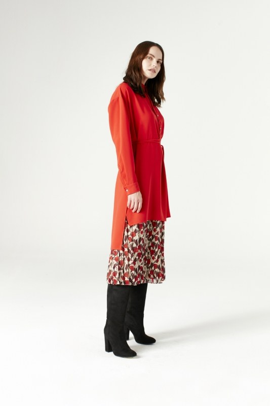 Side Slit Tunic (Vermilion)