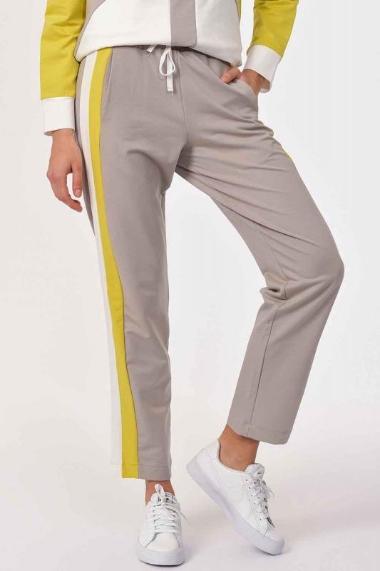 Yanı Şeritli Pantolon (Bej/Fıstık)
