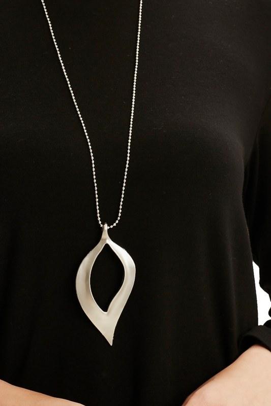 Yaprak Form Kolye (Silver)