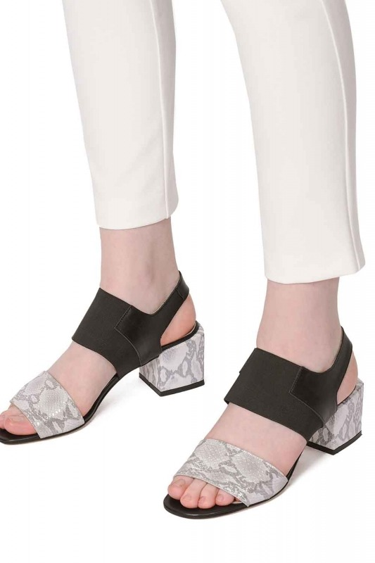 Yılan Desenli Ayakkabı (Gri)