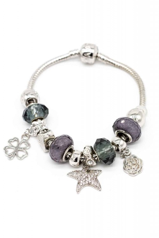 Star Shaped Bracelet (Grey)