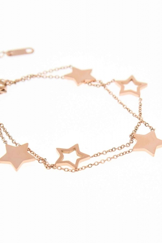Starry Steel Bracelet (Rose)