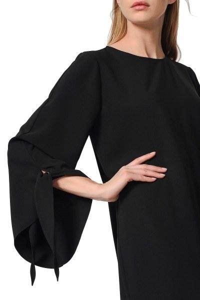 Yırtmaç Detaylı Tunik (Siyah) - Thumbnail