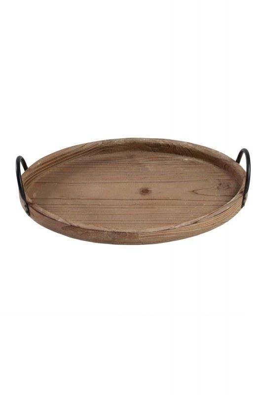 صينية خشبية مستديرة (كبيرة)