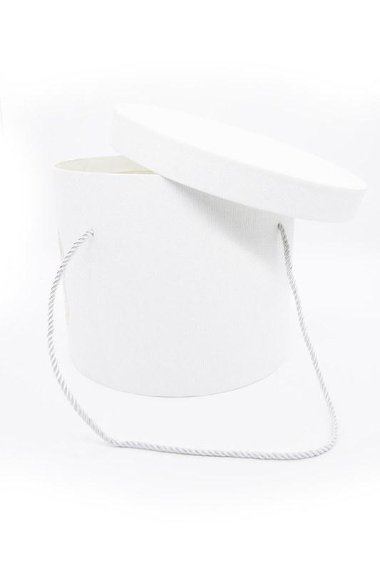 Beyaz Yuvarlak İpli Kutu (25X25)