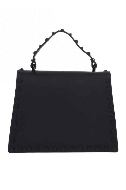 Zımbalı Soft Kol Çantası (Siyah)