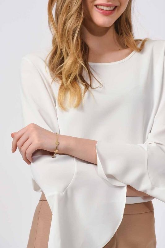 Clover Detailed Steel Bracelet (Gold)
