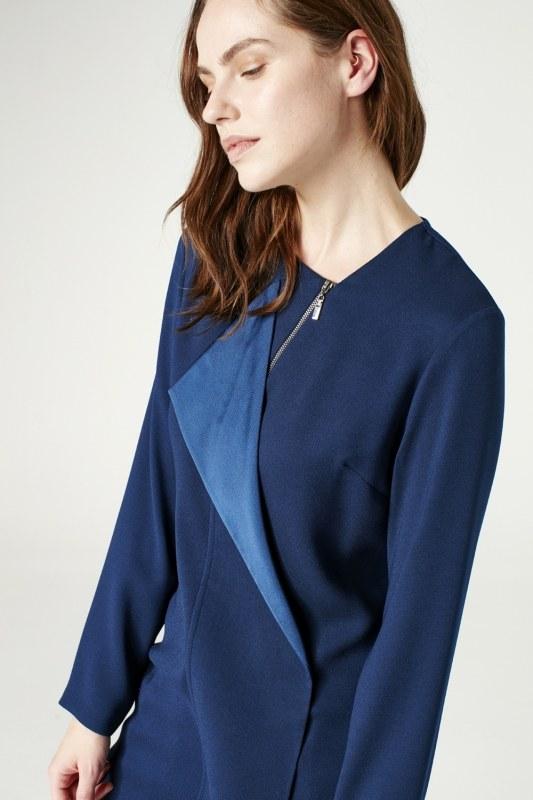 Zip Collar Detailed Tunic (Indigo)