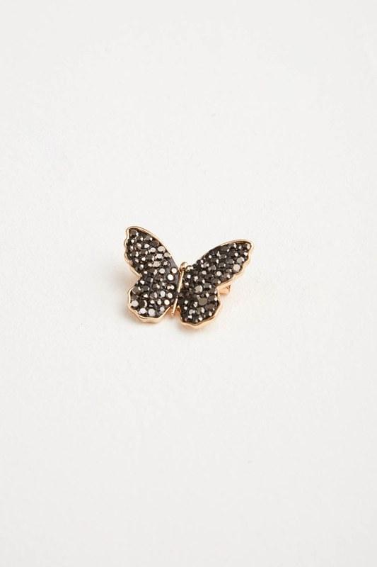 Zircon Butterfly Brooch